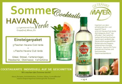 Sommercocktails Havana